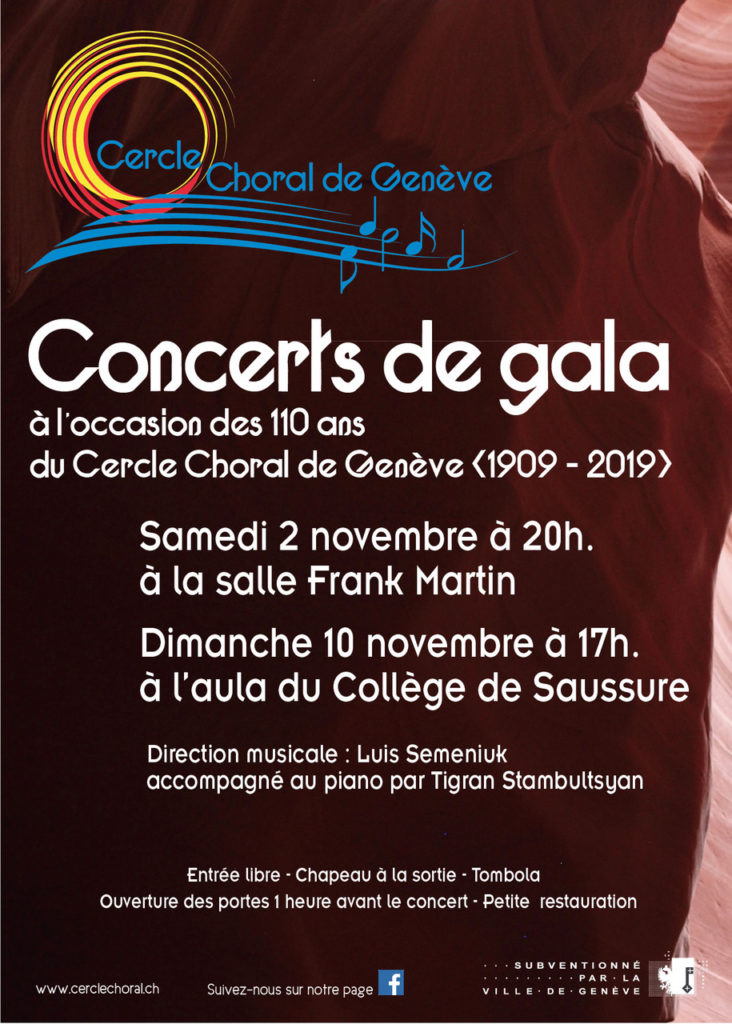 Concerts Cercle Choral de Genève